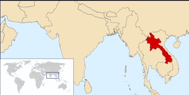 Localização de Laos