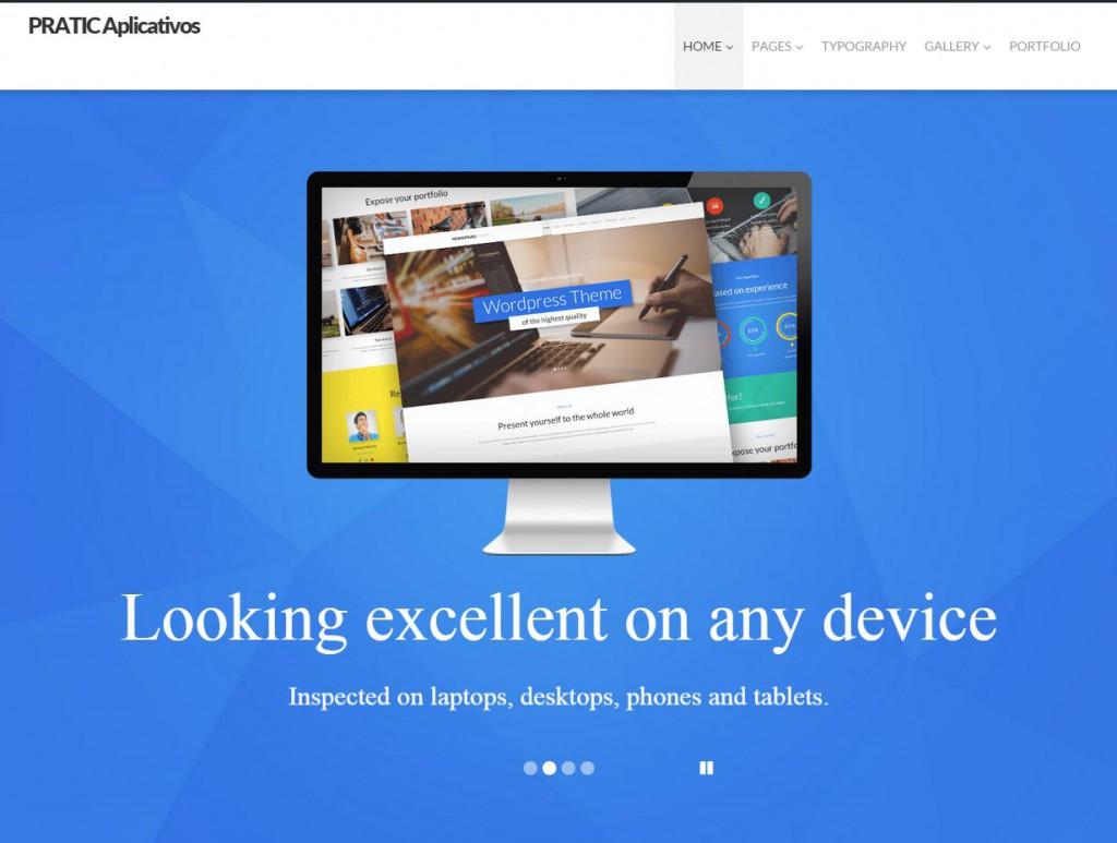 Tela Inicial site teste
