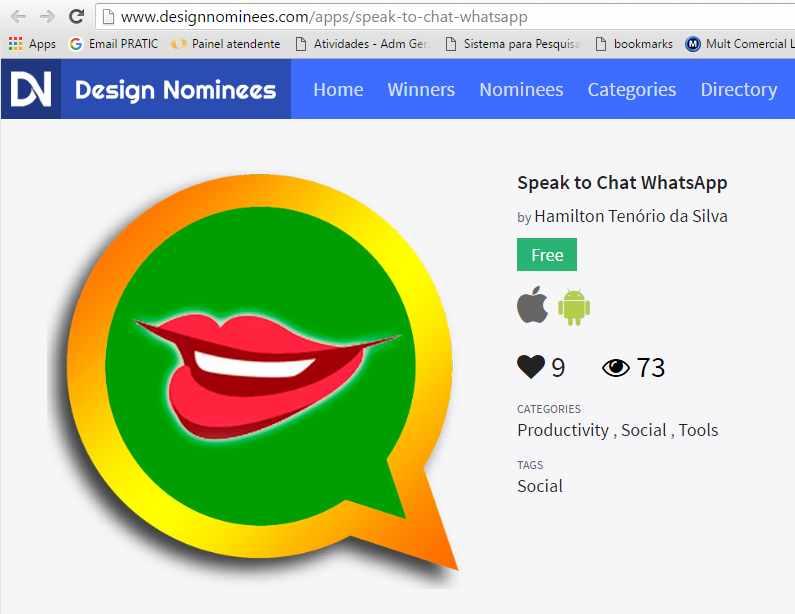 fale para o whatsapp design nominees