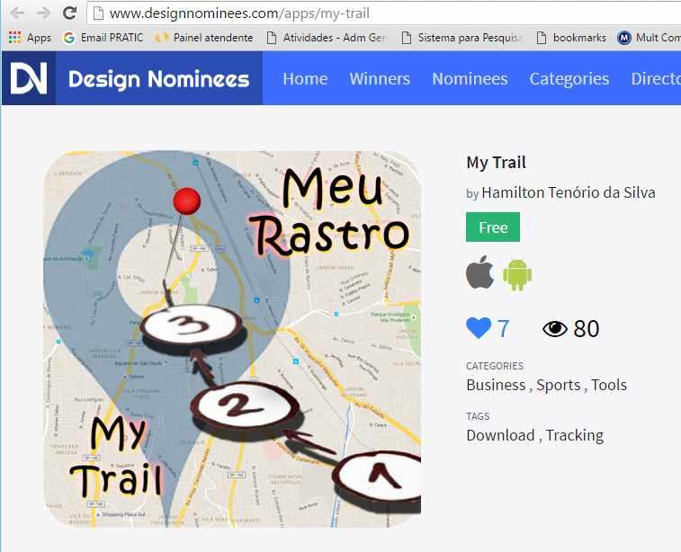 meu rastro design nominees